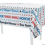 Patriotic Sayings Tablecloth