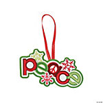 """Peace"" on Earth Christmas Ornament Craft Kit"