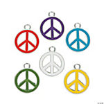 Peace Sign Enamel Charms