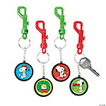Peanuts® Christmas Backpack Clip Key Chains