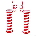 Peppermint Glasses with Straws