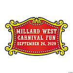 Personalized Carnival Theme Favor Stickers