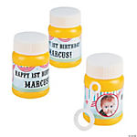 Personalized Circus 1st Birthday Custom Photo Mini Bubble Bottles