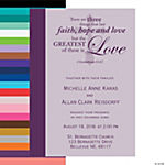 Personalized Faith Wedding Invitations
