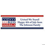 "Personalized ""God Bless America"" Banner - Medium"