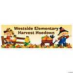 Personalized Harvest Hoedown Banner - Small
