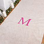 Personalized Hot Pink Monogram Aisle Runner