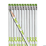 Personalized Lime Green Awareness Ribbon Pencils