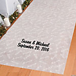 "Personalized ""Love"" Print Wedding Aisle Runner"
