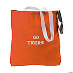 Personalized Medium Orange Tote Bags