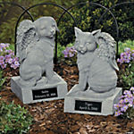 Personalized Memorial Cat Angel Statue