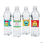Personalized Mini Monster Water Bottle Labels