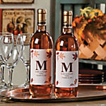 Personalized Monogram Fall Wine Bottle Labels