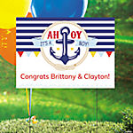 Personalized Nautical Baby Shower Yard Sign