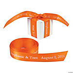 Personalized Orange Ribbon - 7/8