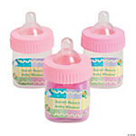 Personalized Pastel Pink Baby Bottle Containers