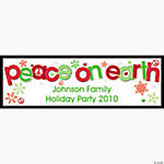"Personalized ""Peace on Earth"" Banner - Medium"