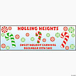 Personalized Peppermint Banner - Large