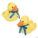 Personalized Plush Autograph Duck with Ribbon