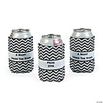 Personalized Prom Chevron Can Covers