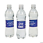 Personalized Purple Awareness Ribbon Water Bottle Labels