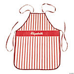 Personalized Red & White Striped Apron