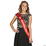 Personalized Red Royalty Sash