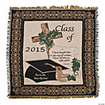 Personalized 2015 Religious Graduation Throw Blanket