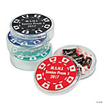 Personalized Round Casino Containers