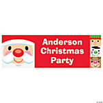 Personalized Small Cheery Christmas Banner