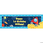 Personalized Small Rocket Party Banner