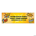 Personalized Small Super Hero Faith Banner