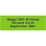 Personalized Solid Lime Green Banner - Medium