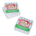 Personalized 1st Birthday Circus Photo Square Containers
