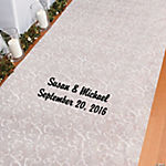 Personalized Two Hearts Print Wedding Aisle Runner