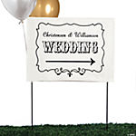 Personalized Vintage Wedding Yard Sign