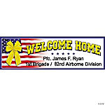 "Personalized ""Welcome Home"" Banner  (MD)"