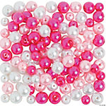 Pink & White Pearl Bead Assortment - 6mm - 8mm