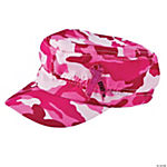 Pink Awareness Ribbon Camo Military Hats