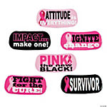 Pink Awareness Ribbon Face Tattoos