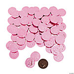 Pink Chocolate Coins