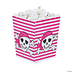 Pink Pirate Popcorn Boxes