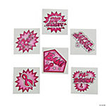Pink Ribbon Superhero Tattoos