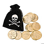 Pirate Bags with Gold Coins