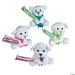 Plush Bright Holiday Bears with Unicorn Pops