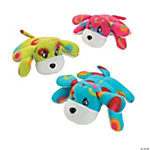 Plush Brightly Printed Dogs