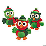 Plush Christmas Owls