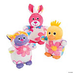 Plush Floral Print Easter Characters