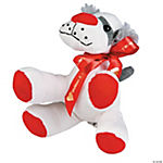 Plush Valentine Dog with Personalized Ribbon