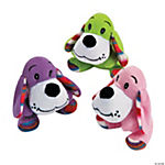 Plush Valentine Dogs with Striped Ears
